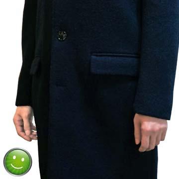 コートの袖(ジャストサイズ)