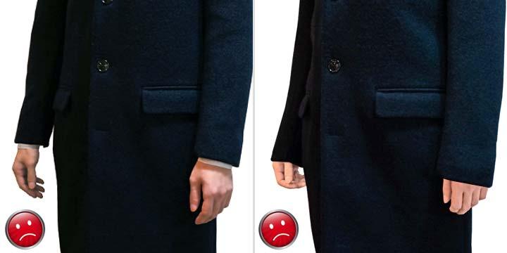 コートの袖(NG)