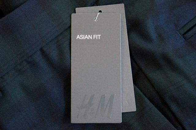 H&M-アジアンフィットのタグ
