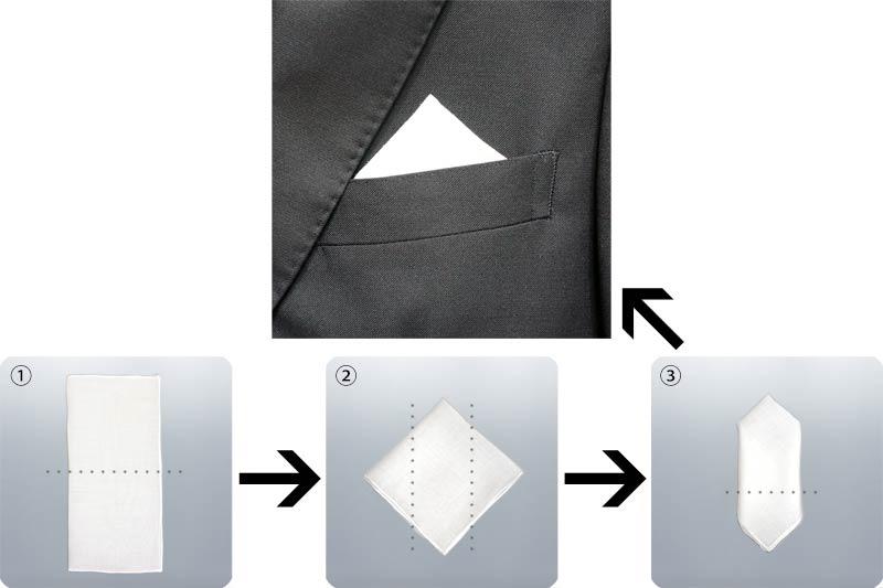 ポケットチーフ-トライアングラー