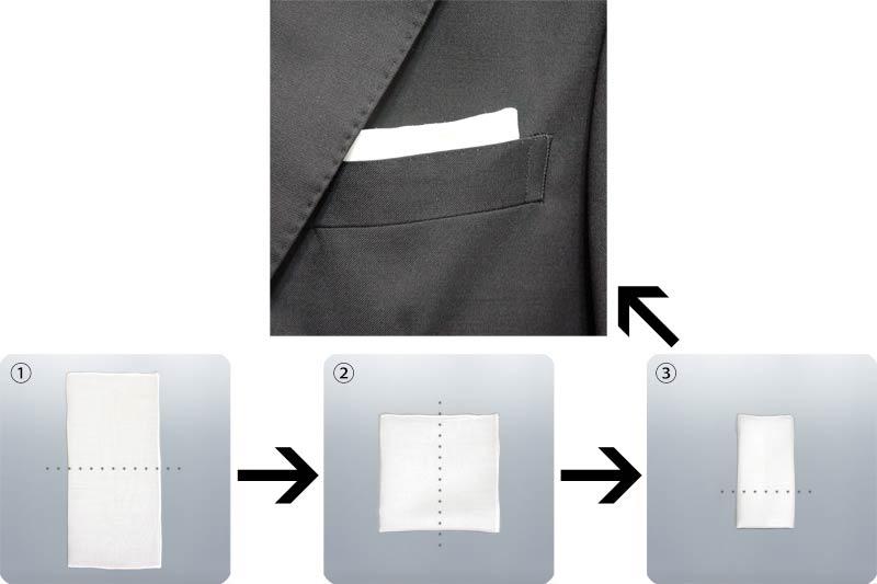 ポケットチーフ-TVフォールド