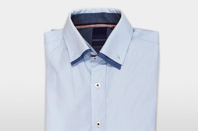 二枚襟のシャツ