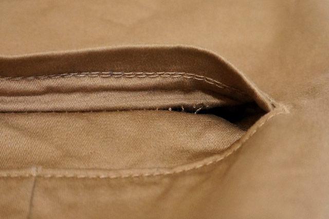 ポケットのしつけ糸