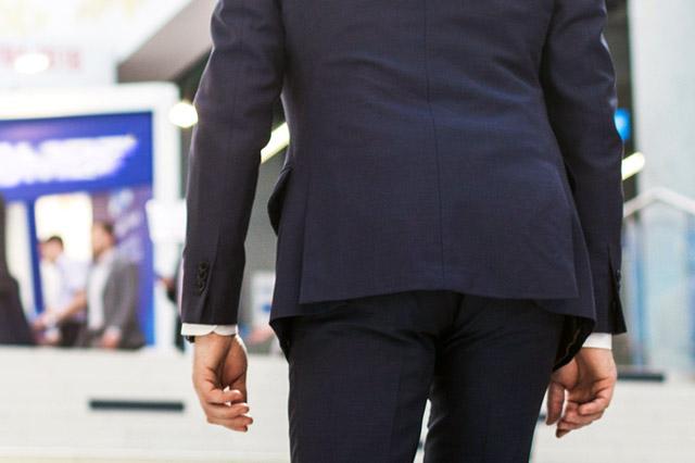 サイドベンツのスーツ