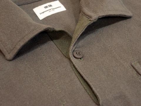 EGオーバーサイズポロシャツの襟