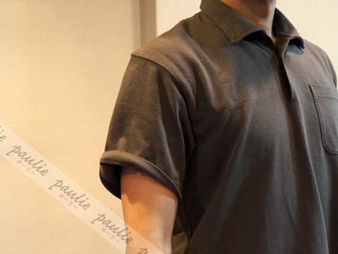 EGオーバーサイズポロシャツの袖