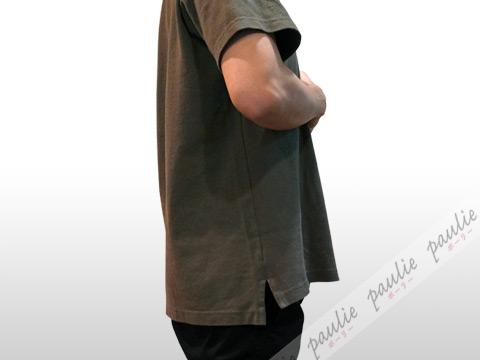 EGオーバーサイズポロシャツのサイド