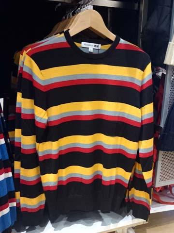 JWA-ボーダークルーネックセーター
