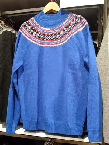 JWA-フェアアイルモックネックセーター