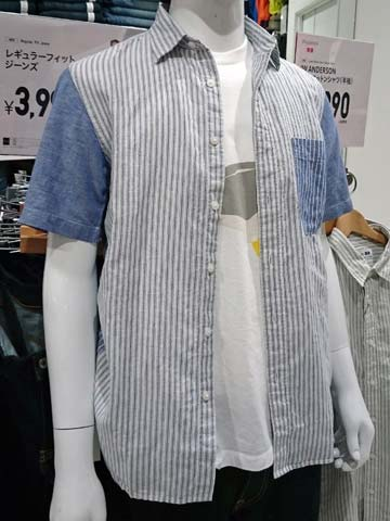 JWA-リネンコットンシャツ(半袖)