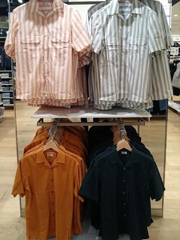 ユニクロU-オープンカラーシャツ