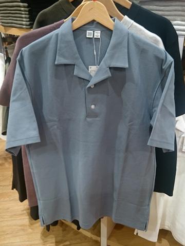 ユニクロU-オープンカラーポロシャツ
