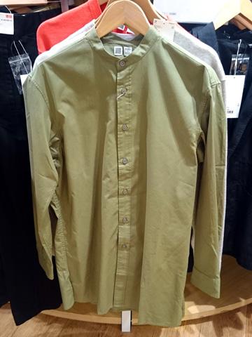 ユニクロU-スタンドカラーシャツ