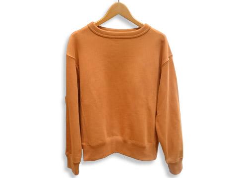 ワイドフィットスウェットシャツ(オレンジ)